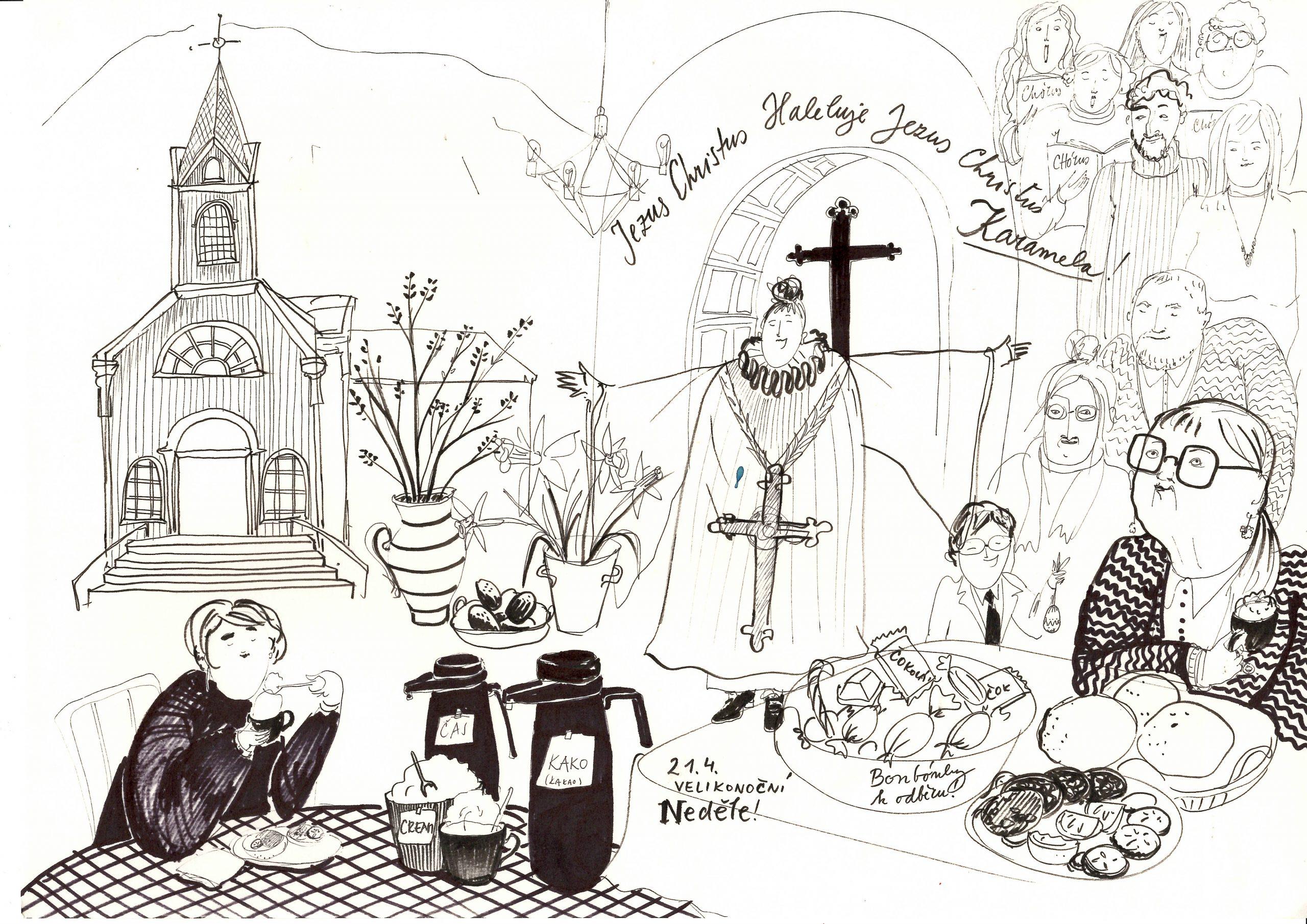 Páskamessa í Seyðisfjarðarkikju 2019 Anna Matnikova